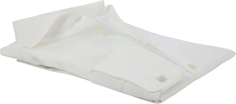 Olymp Body Fit Overhemd Dubbelmanchet Ecru - Ecru maat 43