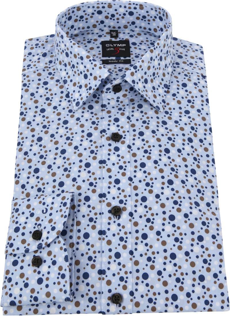 OLYMP Level 5 Overhemd - Blauw maat 40