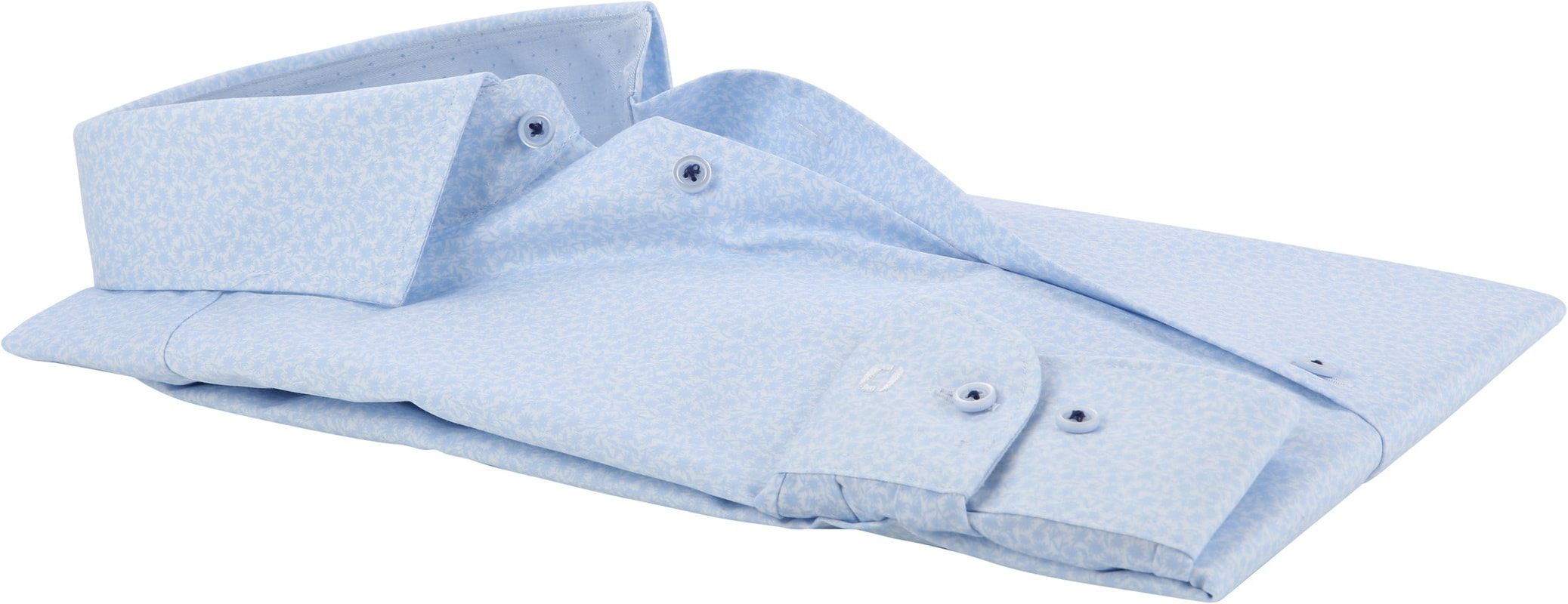 OLYMP Level 5 Overhemd Bloem Blauw BF - Blauw maat 37