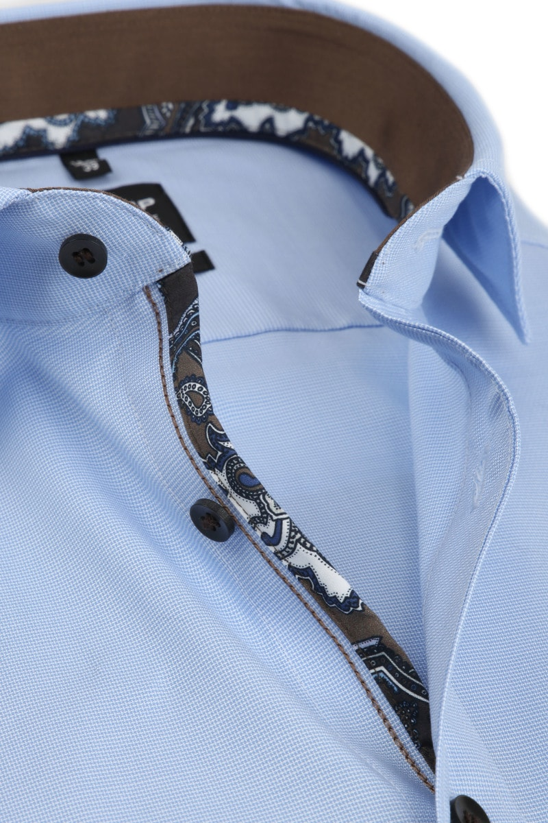 OLYMP Level 5 Overhemd SS Blue - Blauw maat 37