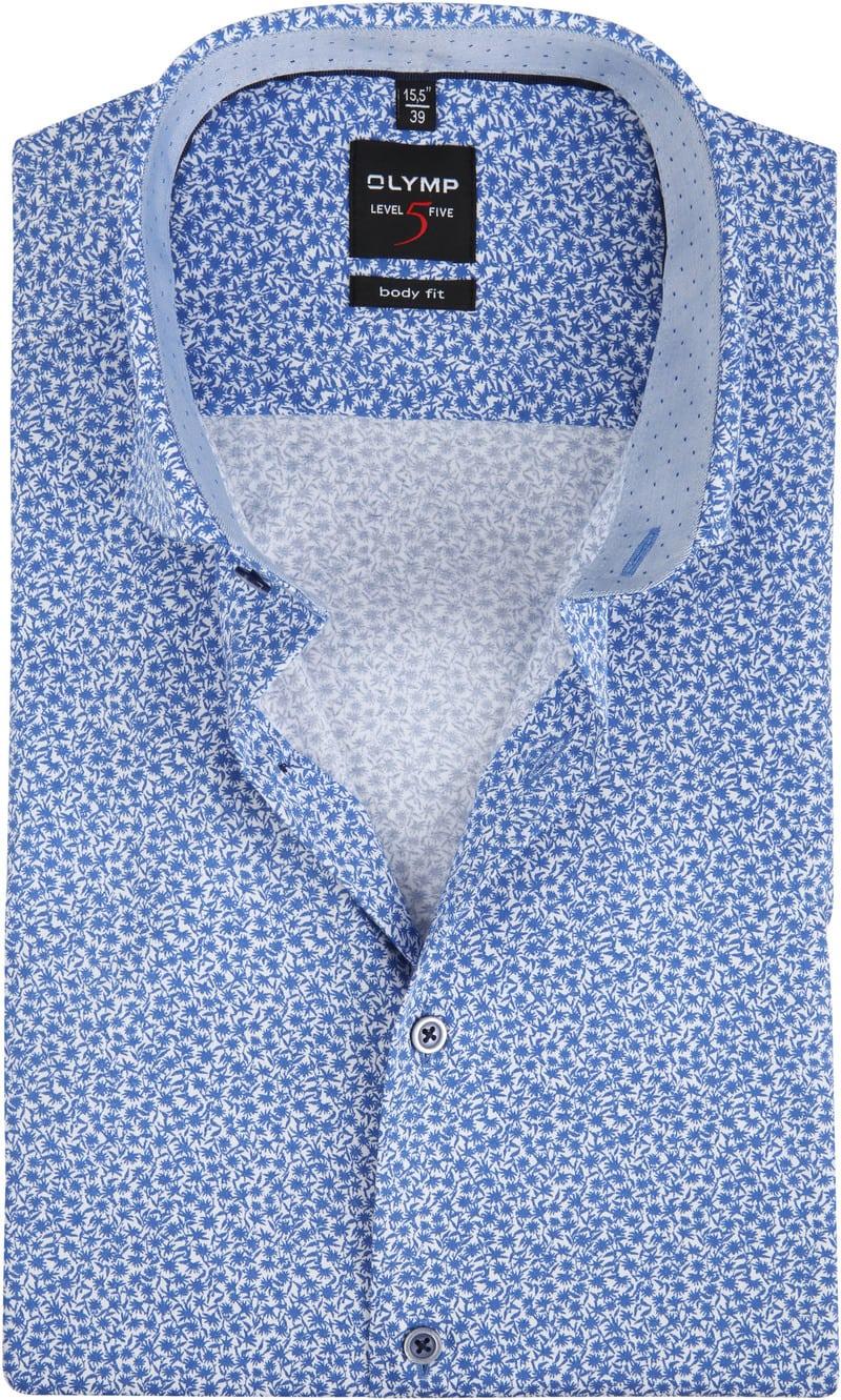 OLYMP Level 5 Overhemd SS Royal - Blauw maat 38