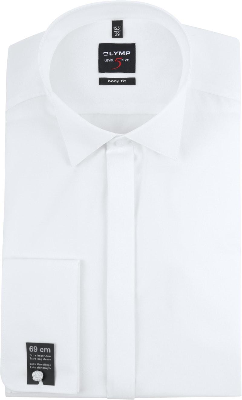OLYMP Level 5 Smokingshirt SL7 Wit - Wit maat 37