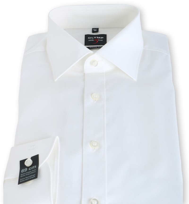 OLYMP Level Five Hemd Body Fit SL7 Off-White Foto 3