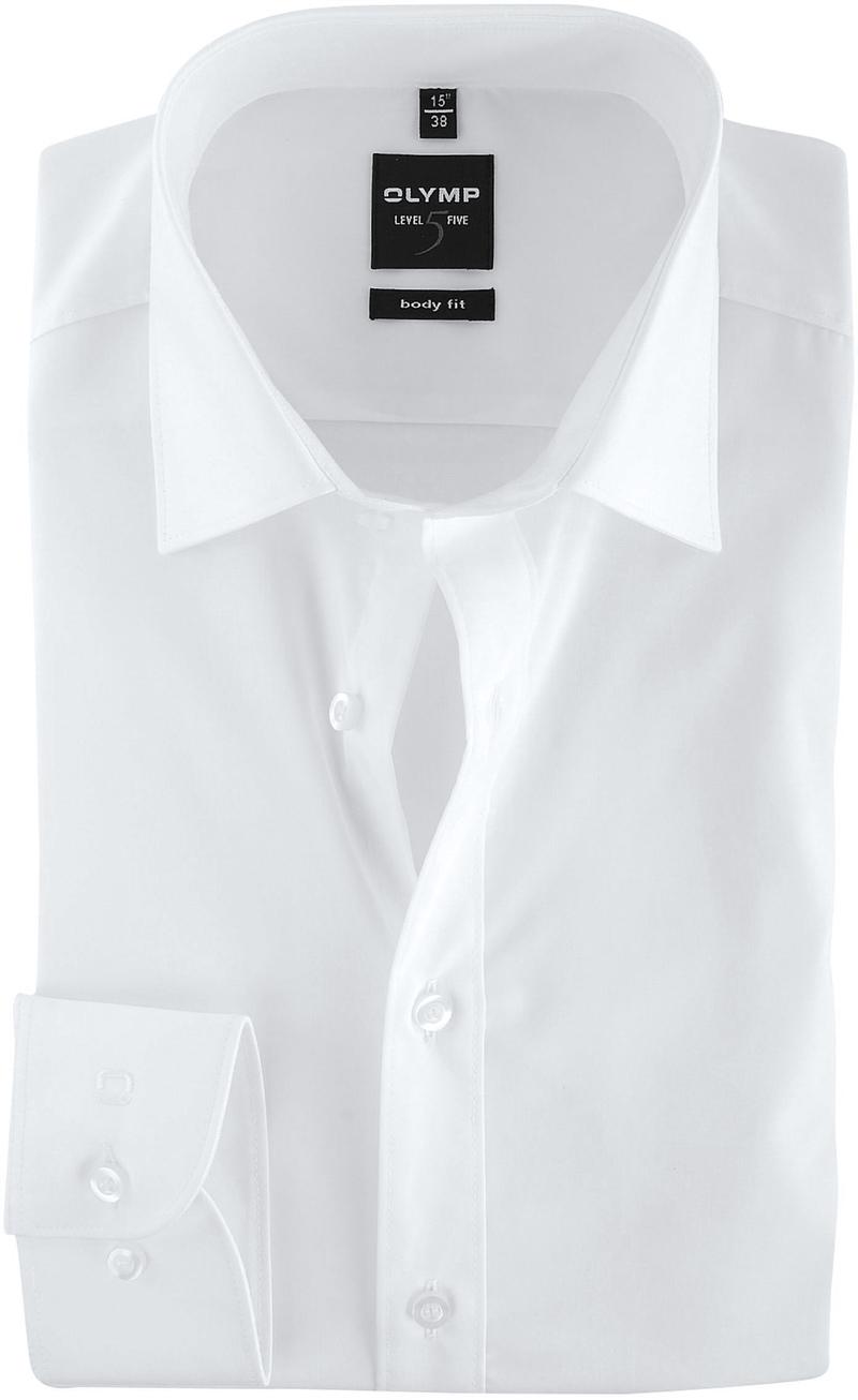 OLYMP Level Five Overhemd Body-Fit Wit foto 0