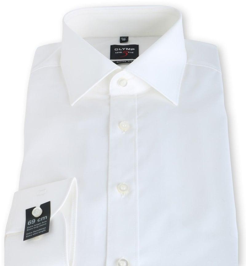 OLYMP Level Five Overhemd SL7 Body-Fit Ecru - Ecru maat 38