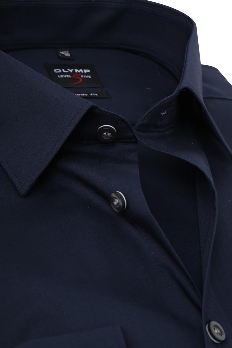 OLYMP Level Five Overhemd SL7 Body-Fit Navy foto 1