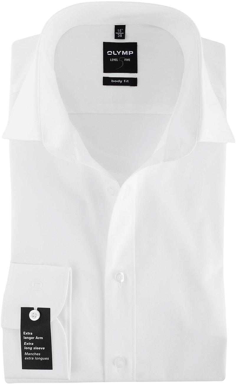 OLYMP Level Five Overhemd SL7 Body-Fit Wit foto 0