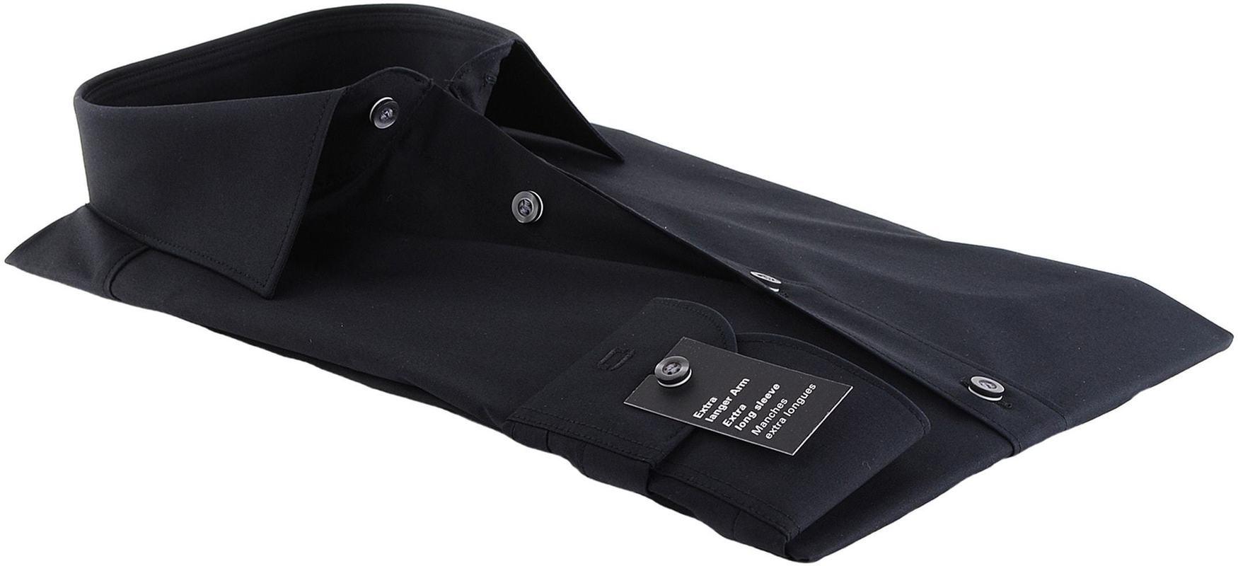 OLYMP Level Five Overhemd SL7 Body-Fit Zwart - Zwart maat 39