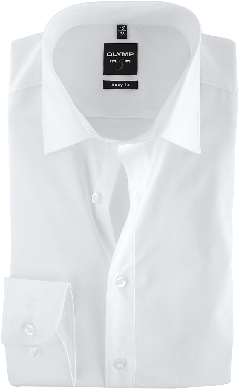 Olymp Level Five Shirt Body-Wit White photo 0