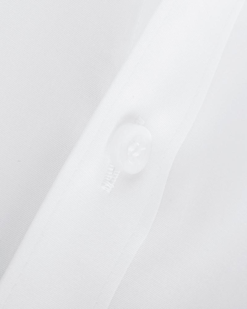 OLYMP Level Five Shirt SL7 Wit Body-Fit Dubbelmanchet  - Wit maat 39
