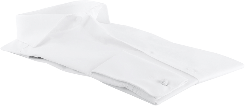 Olymp Level Five Shirt Wit Body-Fit Double Cuff