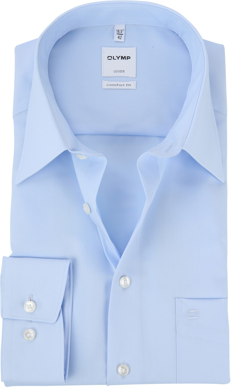 OLYMP Luxor CF Overhemd Lichtblauw SL7 - Blauw maat 47