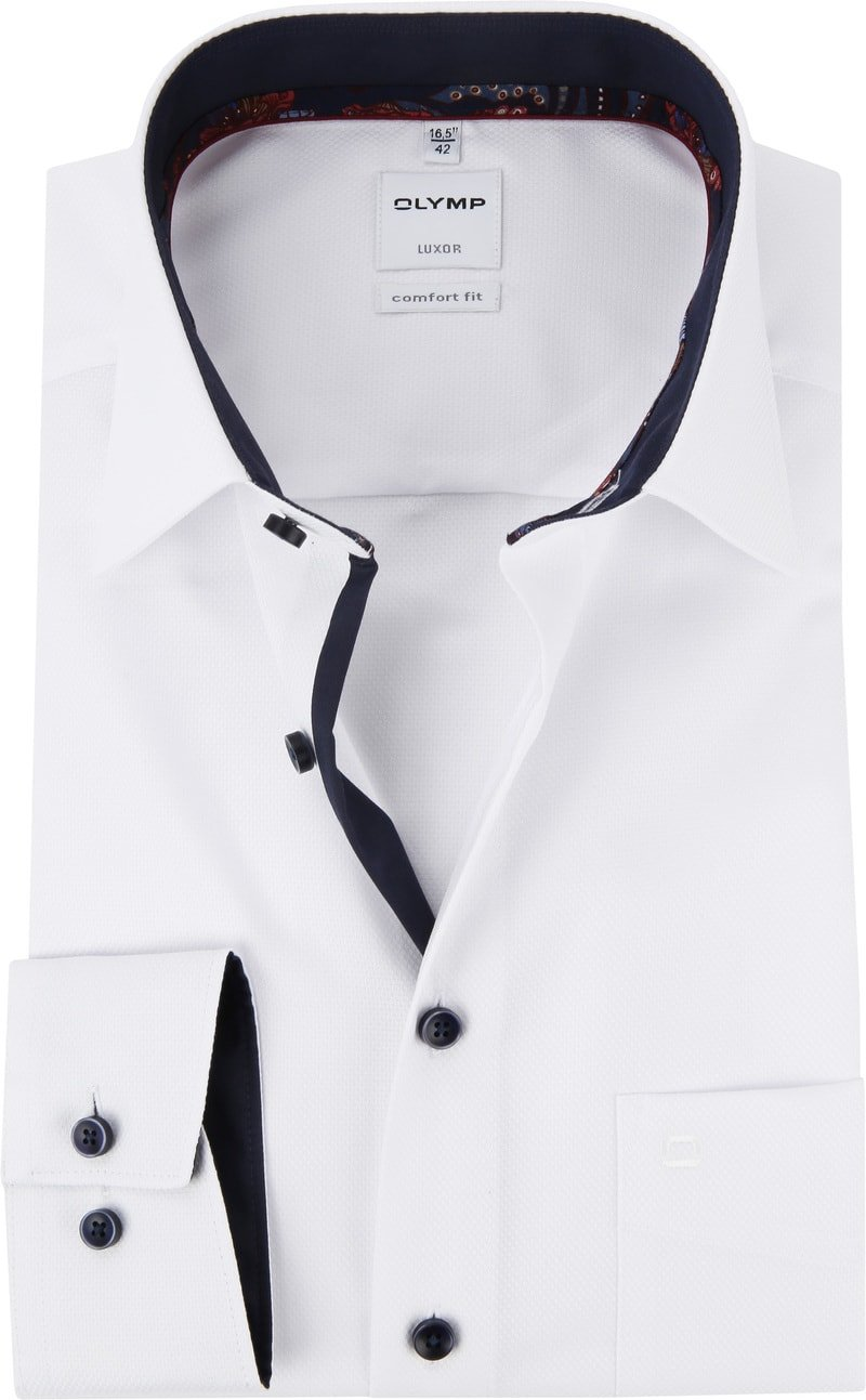 OLYMP Luxor CF Shirt Dessin White photo 0