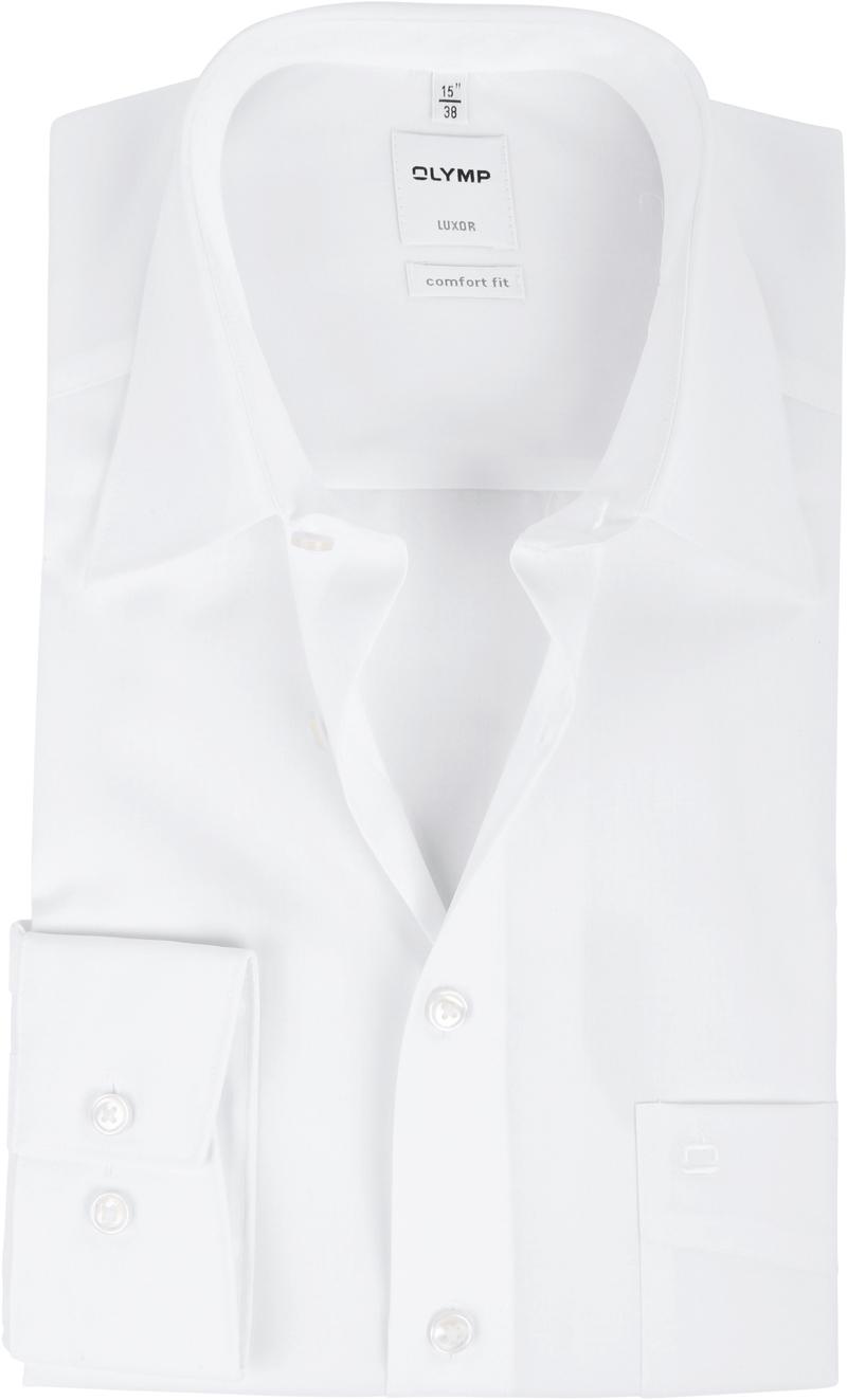 OLYMP Luxor Comfort Fit Overhemd Wit - Wit maat 43