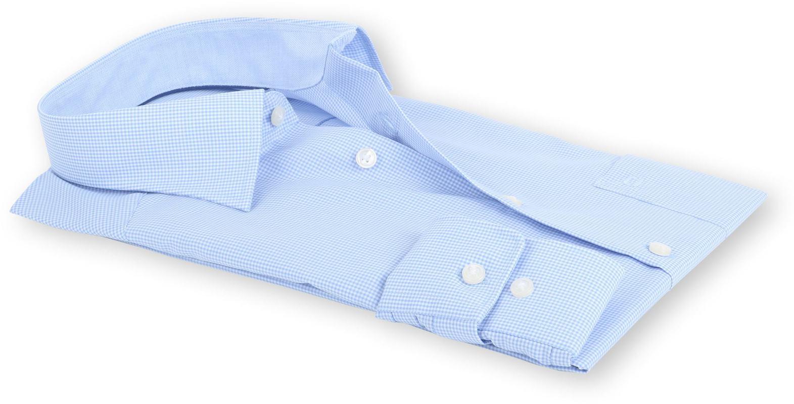 OLYMP Luxor Comfort Fit Shirt Blauw Ruit - Blauw maat 45