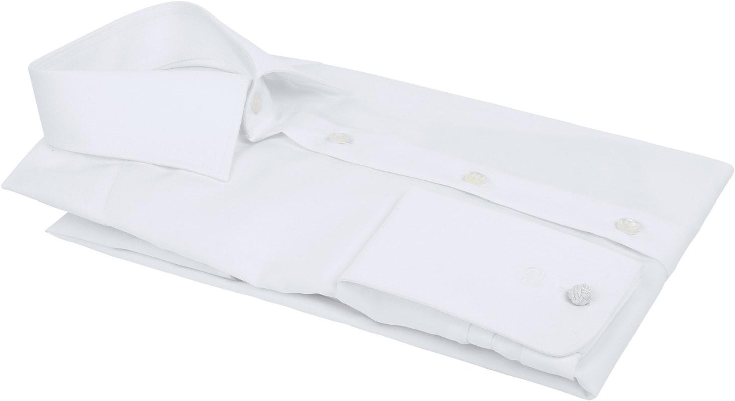 OLYMP Luxor Dubbelmanchet Overhemd Wit - Wit maat 40