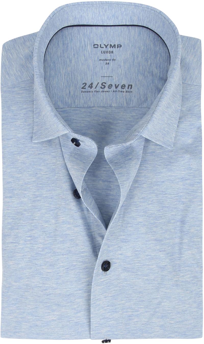 OLYMP Luxor Hemd 24/Seven Blauw