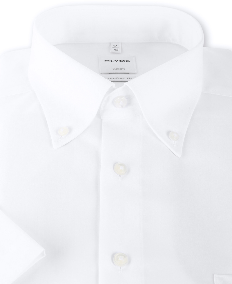 OLYMP Luxor Hemd Comfort Fit Kurzarm Weiß Foto 2