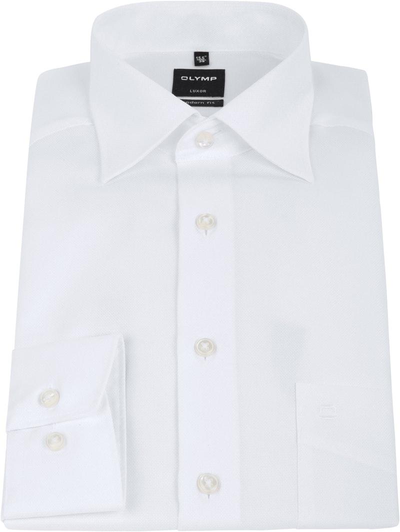OLYMP Luxor Hemd Modern Fit Weiß