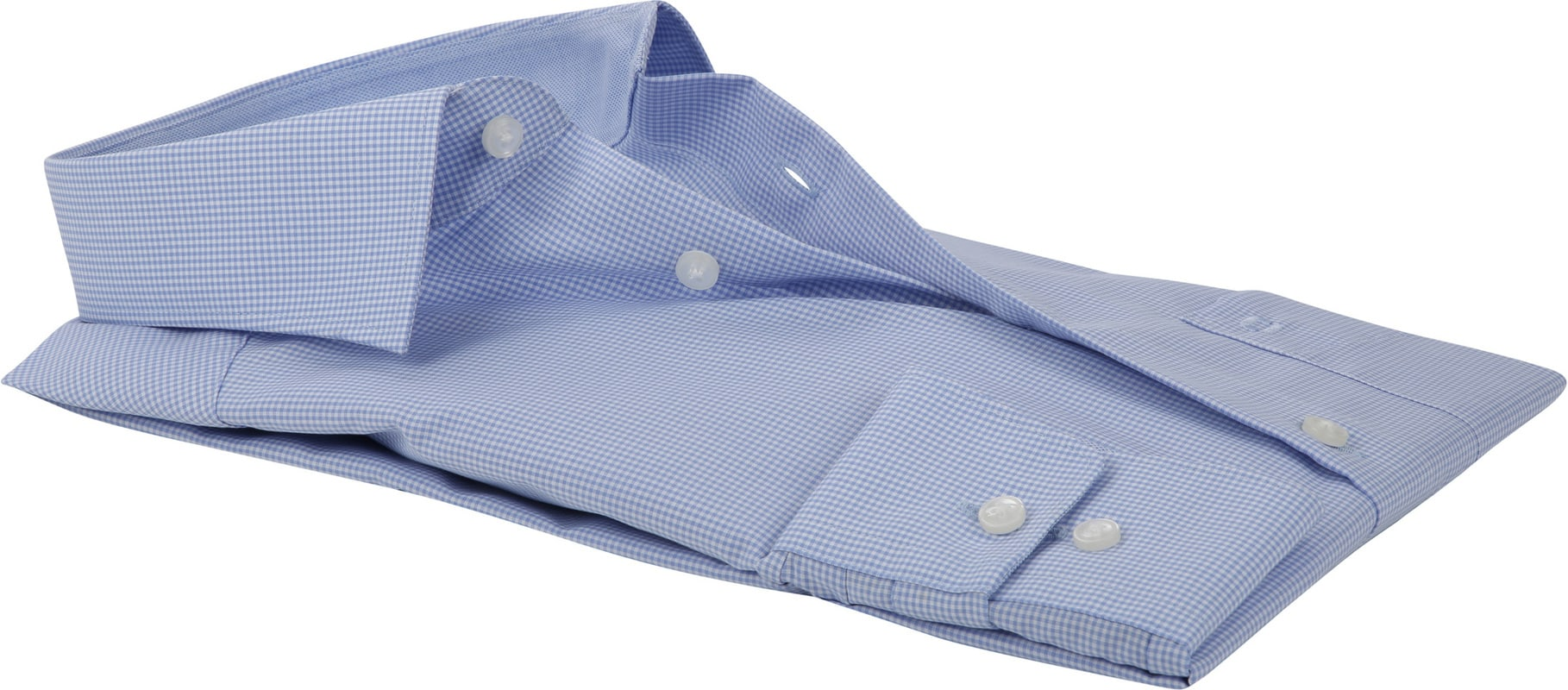 OLYMP Luxor MF Blauw Ruit Overhemd - Blauw maat 40