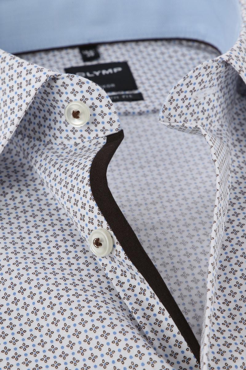 OLYMP Luxor MF Overhemd SS Dessin - Grijs maat 38