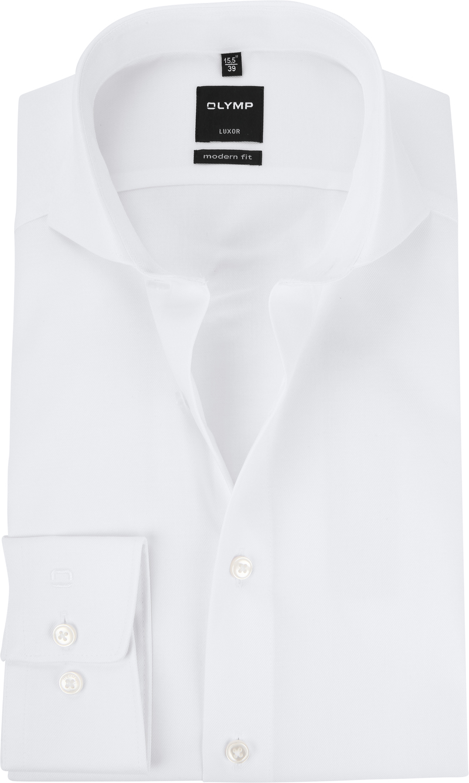 OLYMP Luxor MF Overhemd Twill Wit - Wit maat 39