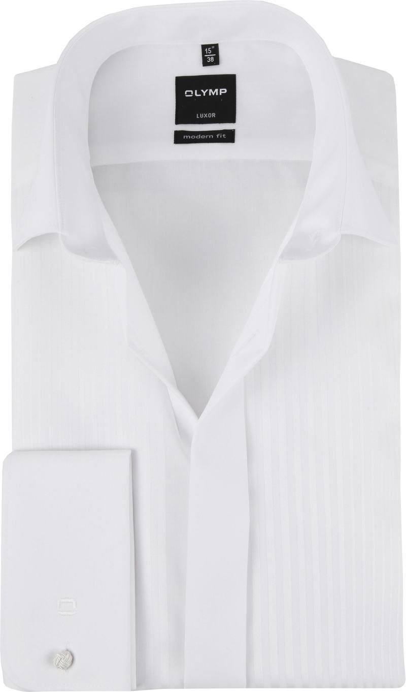 OLYMP Luxor MF Smokingshirt Wit Dessin - Wit maat 38