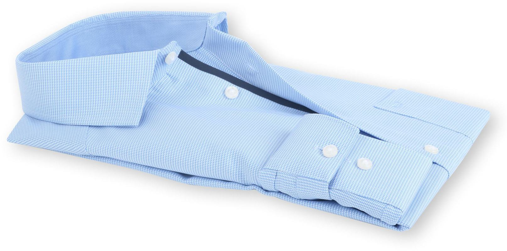 OLYMP Luxor Modern Fit Overhemd Blauw Dessin - Blauw maat 43