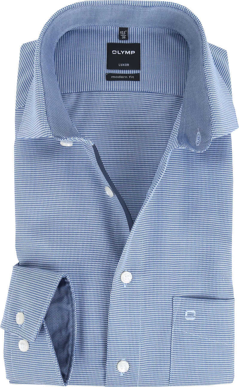 OLYMP Luxor Modern Fit Shirt Royal Blue - Blauw maat 39