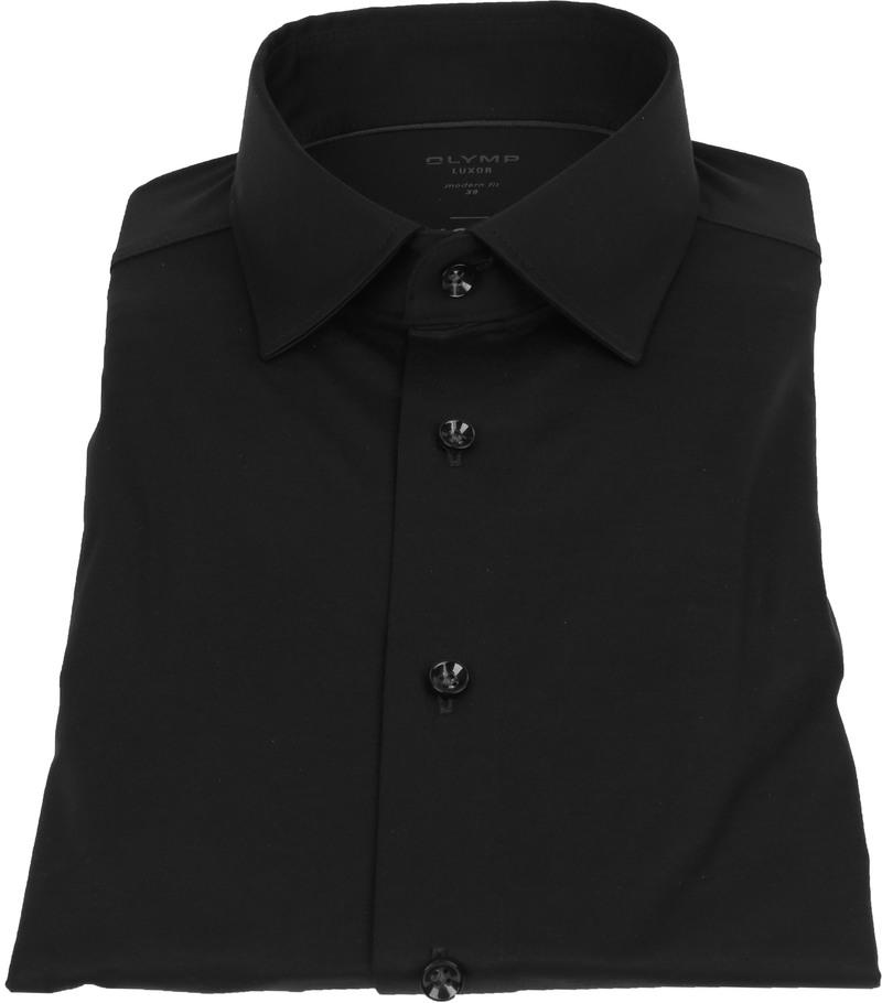 OLYMP Luxor Overhemd 24/Seven Zwart
