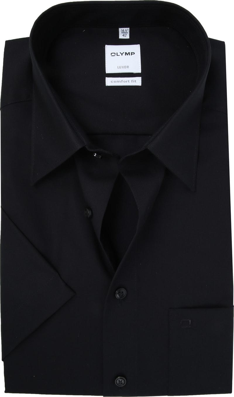OLYMP Luxor Overhemd Comfort-Fit SS Zwart foto 0