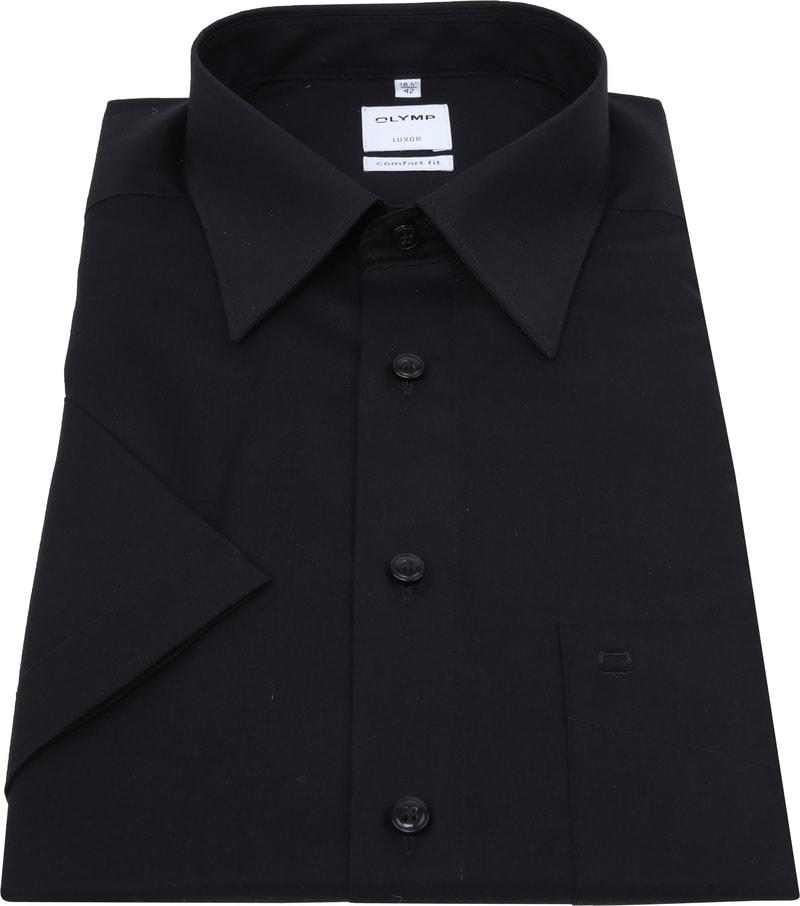 OLYMP Luxor Overhemd Comfort-Fit SS Zwart foto 2