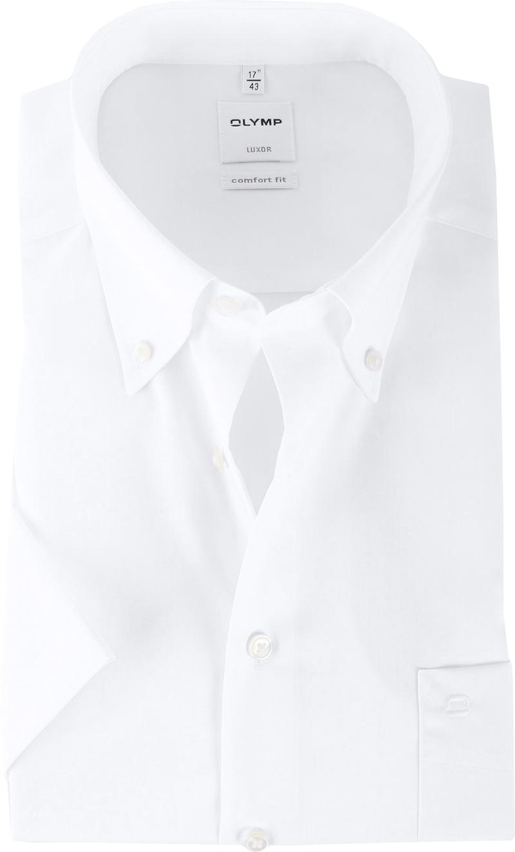 OLYMP Luxor Overhemd Comfort Fit Wit Korte Mouw - Wit maat 46