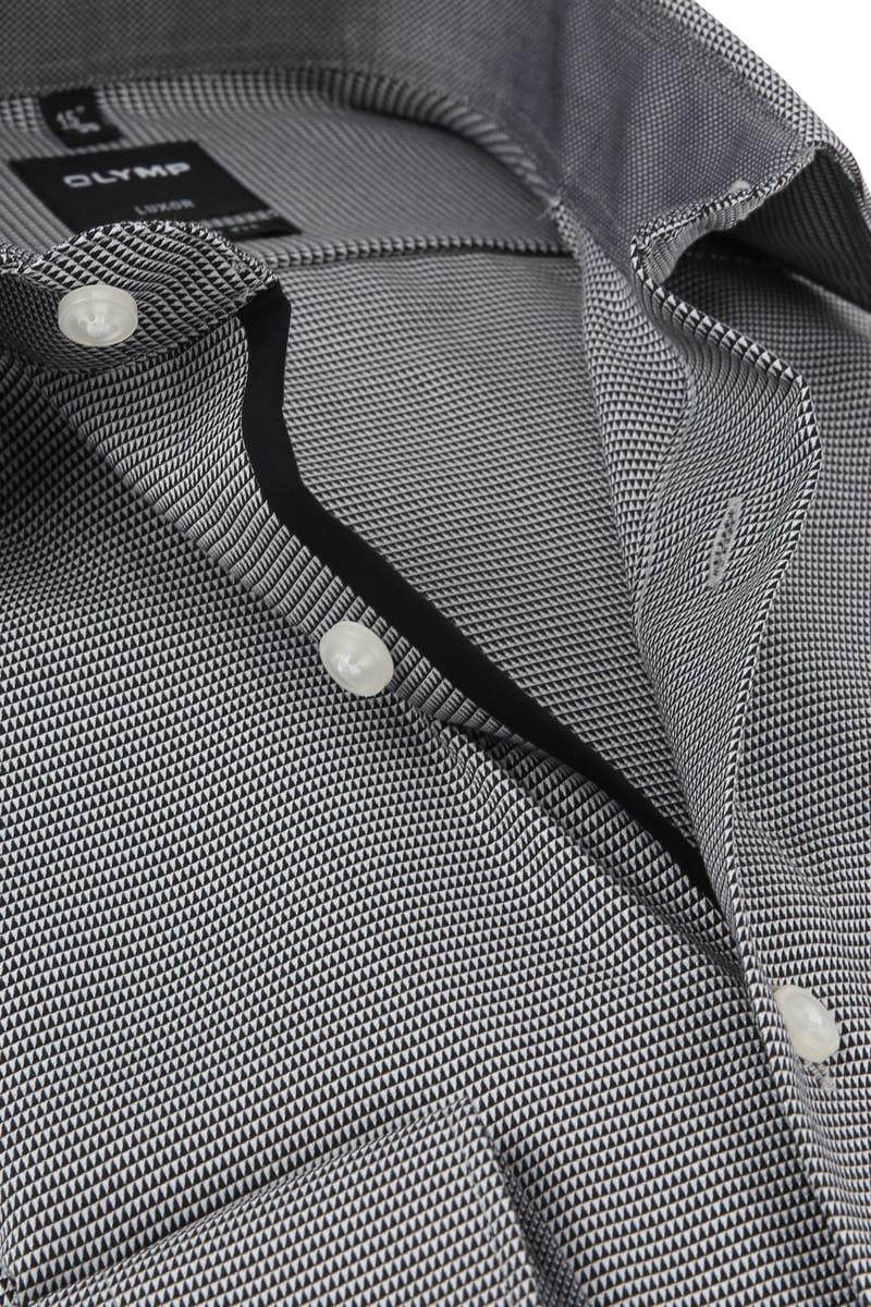 OLYMP Luxor Overhemd MF Antraciet SL7  - Antraciet maat 43