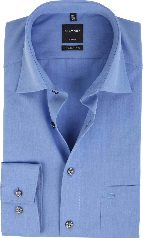 OLYMP Luxor Overhemd Modern Fit Blauw - Blauw maat 44