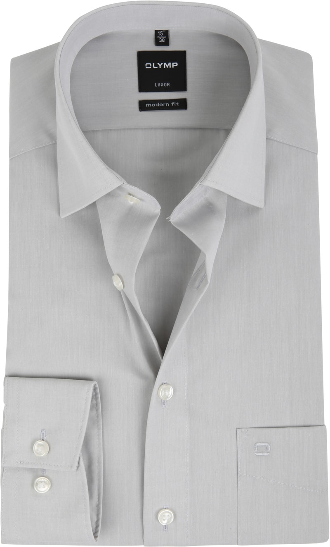 OLYMP Luxor Overhemd Modern Fit Grijs foto 0