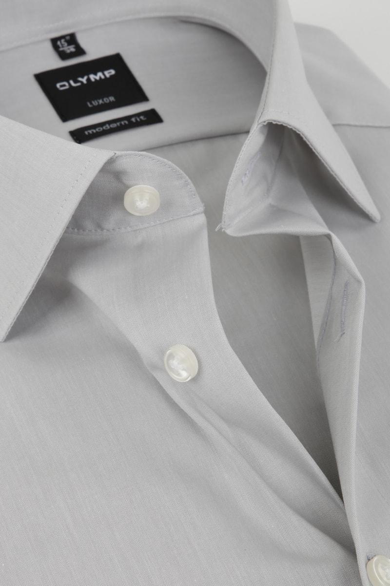 OLYMP Luxor Overhemd Modern Fit Grijs foto 1