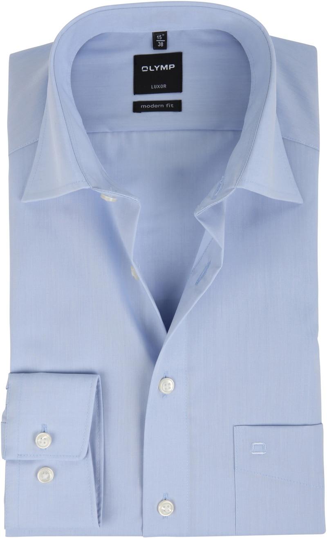 OLYMP Luxor Overhemd Modern Fit Lichtblauw