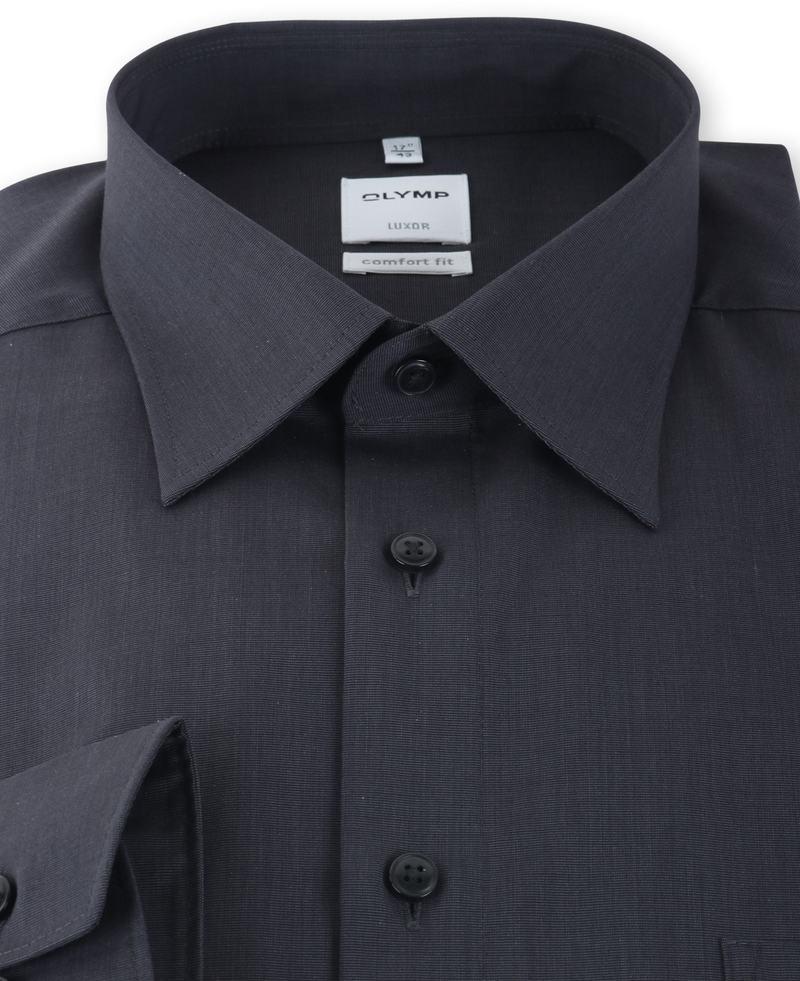 OLYMP Luxor Shirt Antraciet Comfort Fit  - Antraciet maat 47