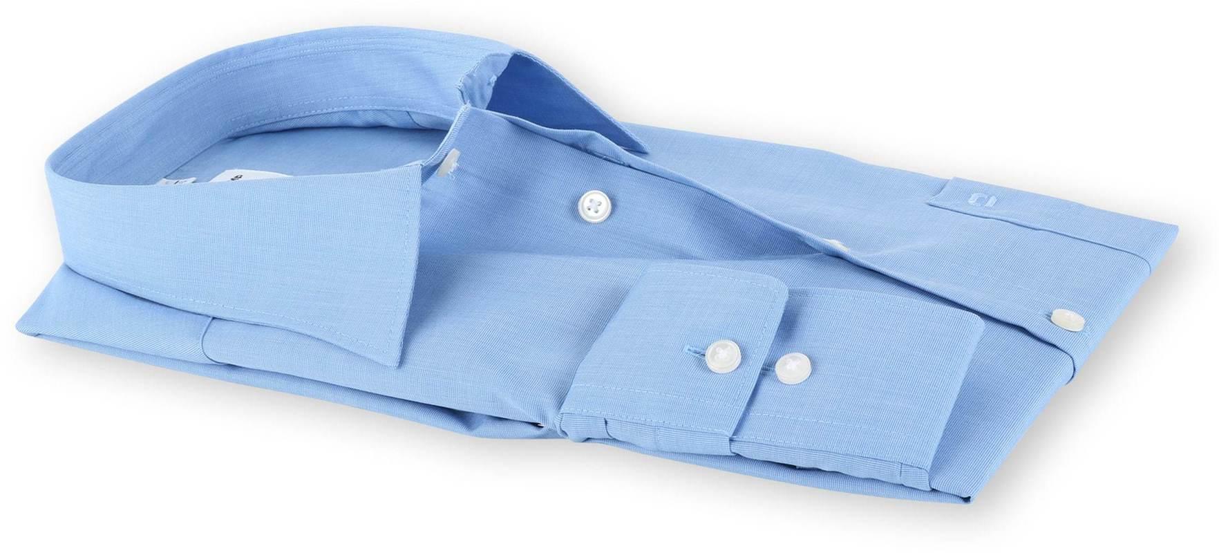 OLYMP Luxor Shirt Blauw Comfort Fit - Blauw maat 46