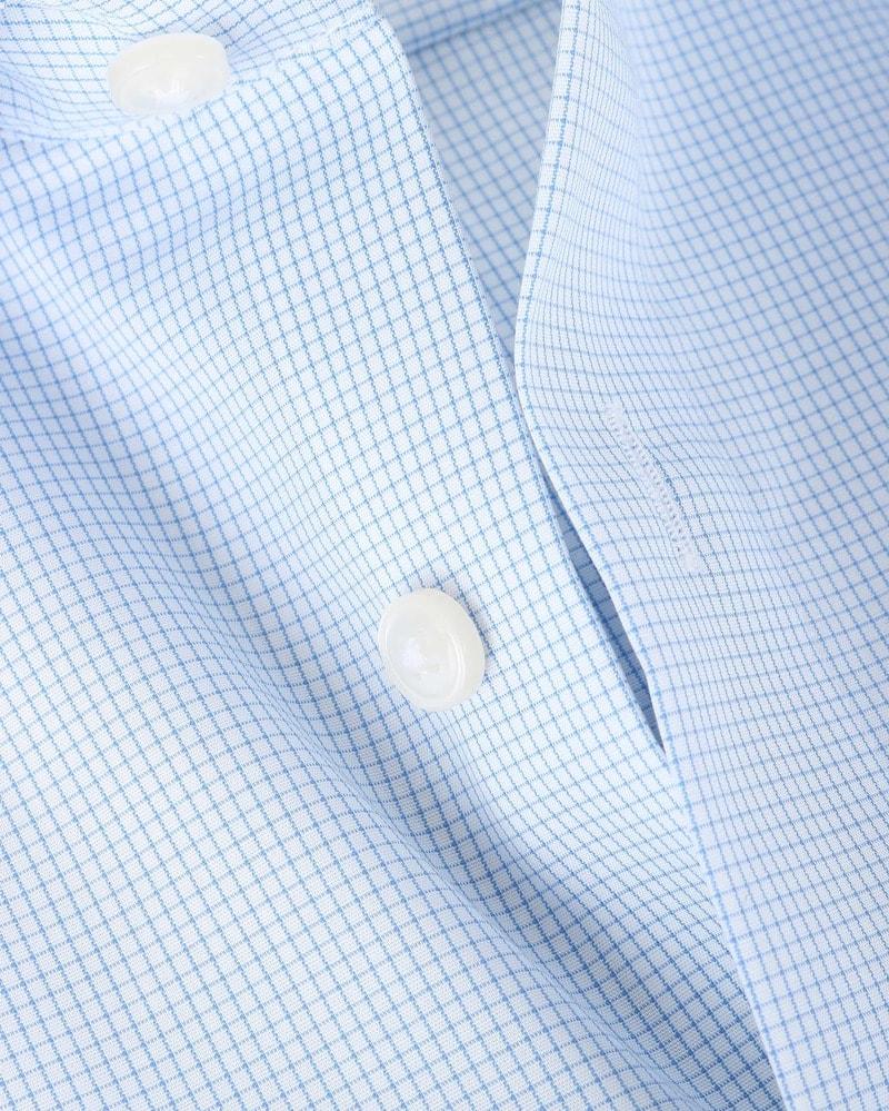 OLYMP Luxor Shirt Blauw Ruit Comfort Fit - Blauw maat 46