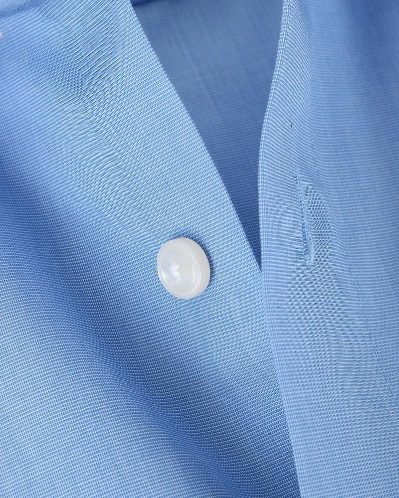 OLYMP Luxor Shirt Comfort Fit Korte Mouw - Blauw maat 48