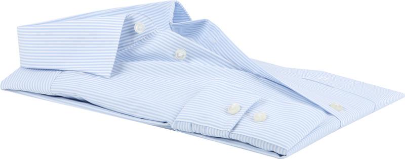 OLYMP Luxor Shirt Comfort Fit Streep - Blauw maat 43