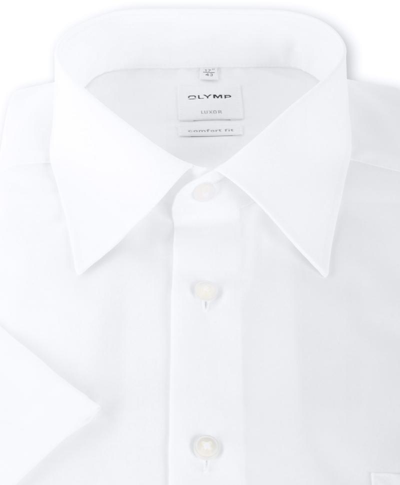 OLYMP Luxor Shirt Comfort Fit Wit Korte Mouw - Wit maat 48