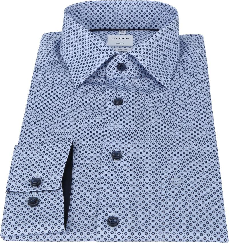 OLYMP Luxor Shirt Print Blue