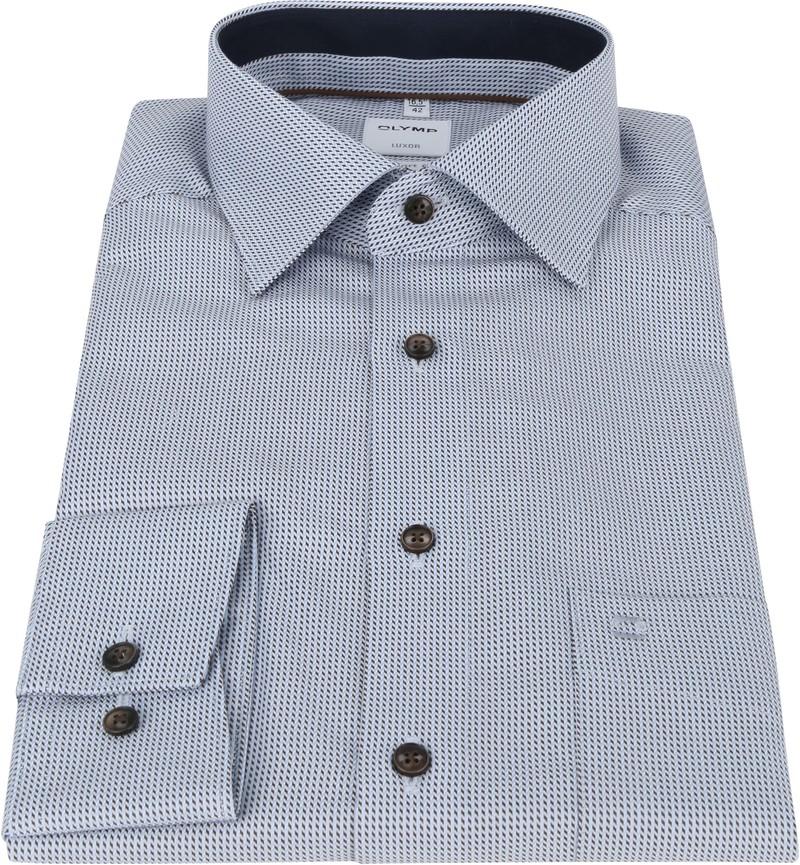 OLYMP Luxor Shirt Print Blue Brown