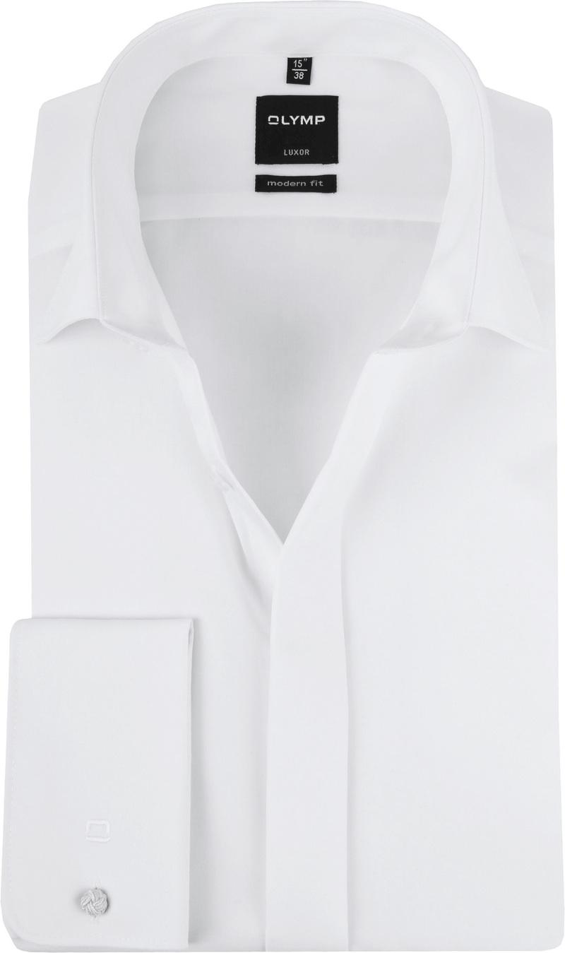 OLYMP Luxor Sleeve 7 Smoking Overhemd MF - Wit maat 38