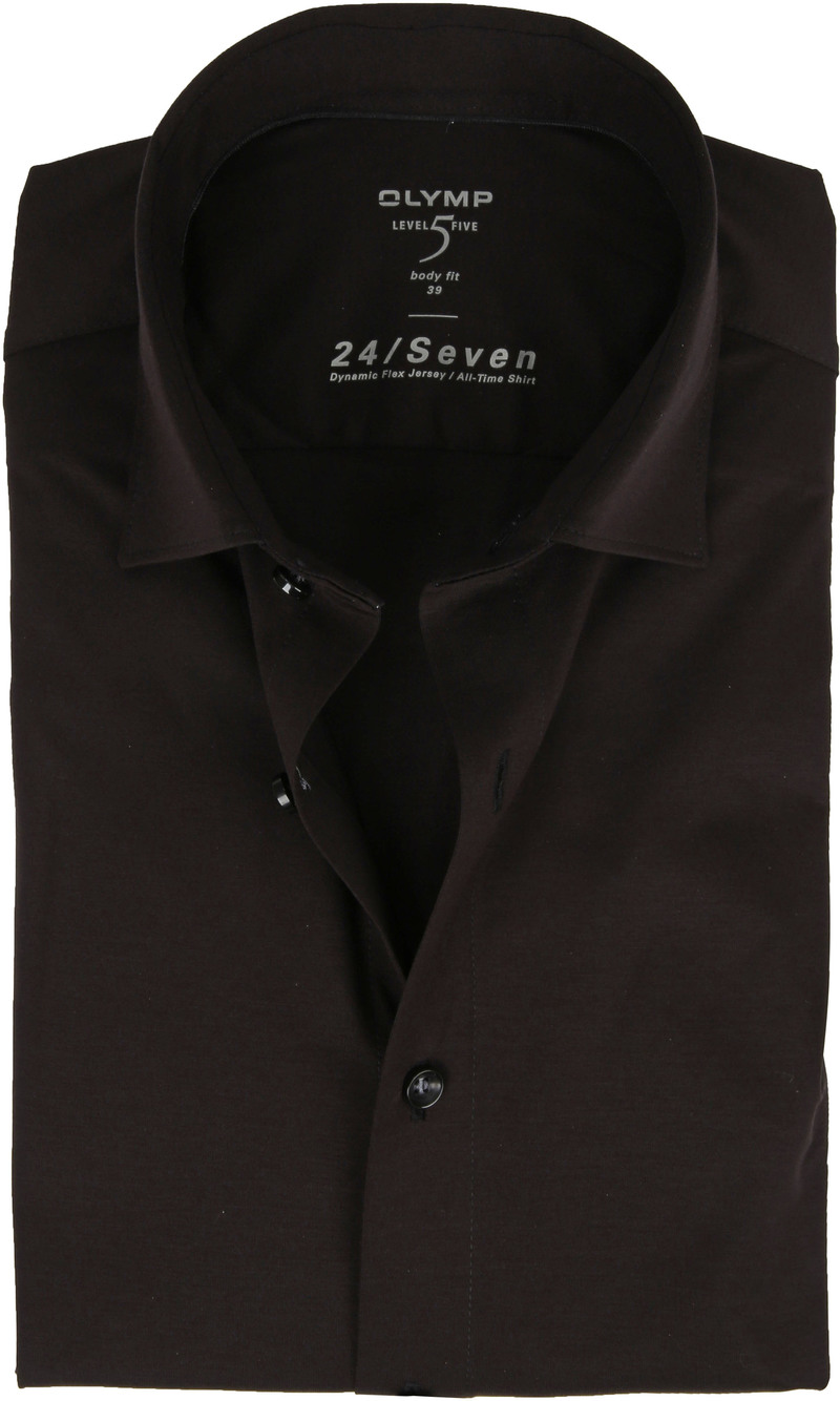 OLYMP Lvl 5 Hemd 24/Seven Zwart