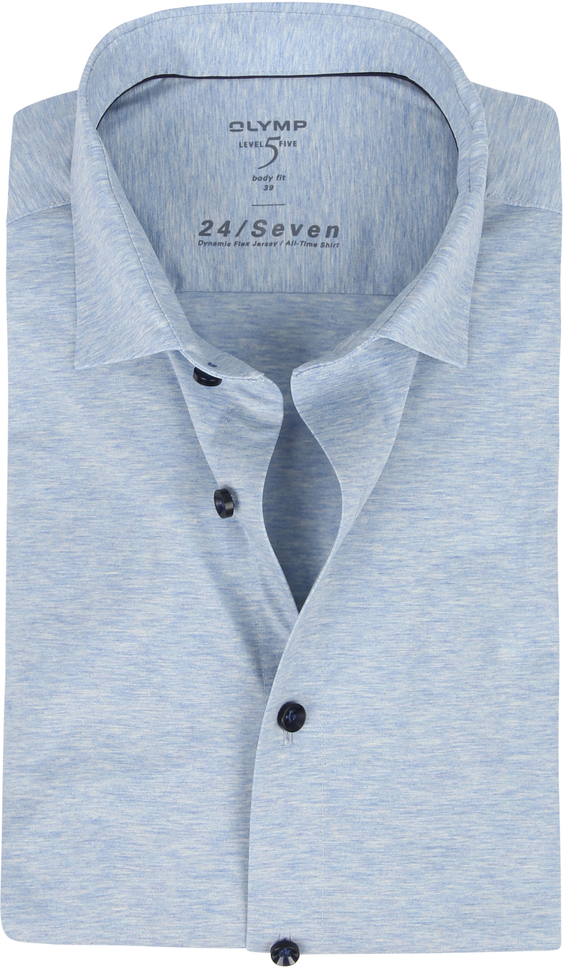 OLYMP Lvl 5 Overhemd 24/Seven Blauw foto 0