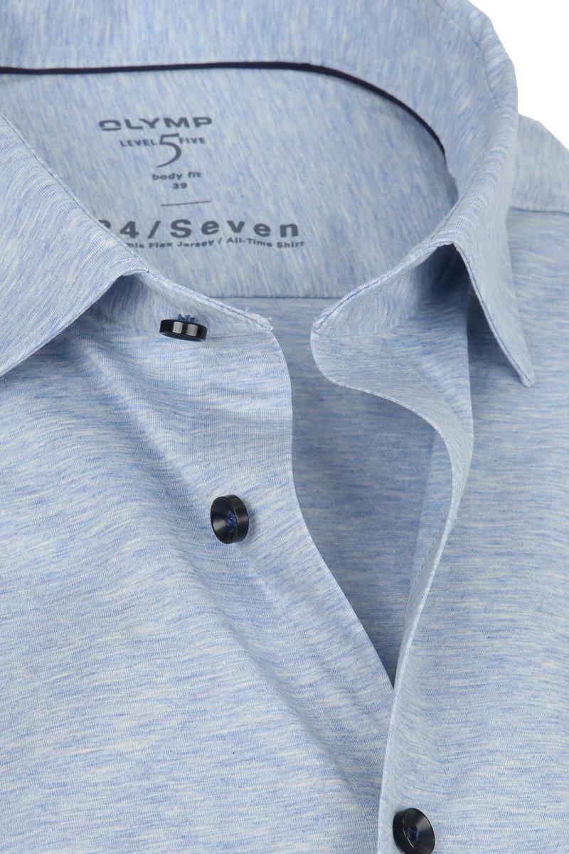 OLYMP Lvl 5 Overhemd 24/Seven Blauw foto 1